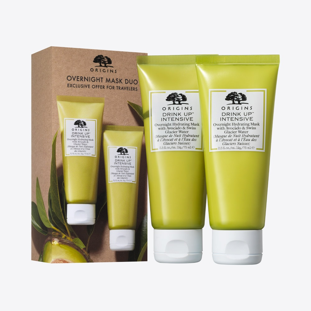 Overnight Mask Duo Two Hydrating Masks With Avocado Glacier Water Origins Uk